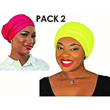 46c358c6a86 Pack De 02 Foulards Pour Femme - Rose Et Jaune