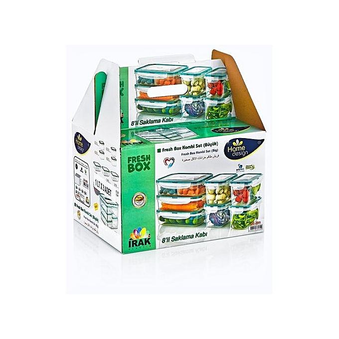 Generic Pack De 6 Boites De Rangement Pour Congélateur/Frigo/Micro Onde - Multicolore - Prix pas ...