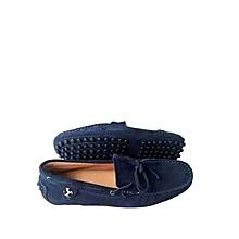 e114c5906fe95 Chaussures Hommes En Baladeuse à Lacets En Daim (Petite Pointure) - Bleu  Nuit