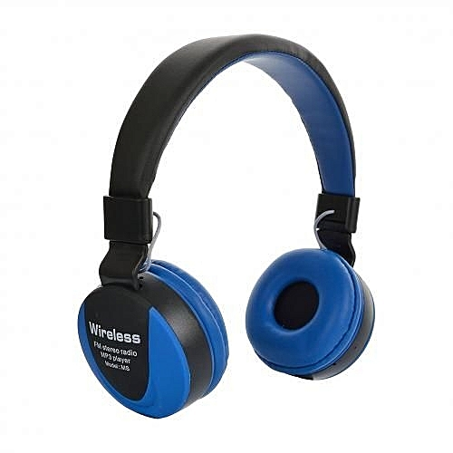 Wireless GSM Casque Audio Bluetooth - Bleu/
