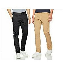 5b4ee4729ec9a 2 Pantalons Dockers Responsable Et Fashion Pour Les Hommes - Noir Marron