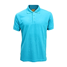 low priced 6753a a41ce Polo Manches Courtes Mixte - Bleu Turquois