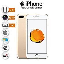 iphone 7 - 4.7 pouces - 12 mégapixels - rom 128 go - ram 2 go - quad-core - 2.34 ghz - ios 10 - or garantie 3 mois reconditionnées