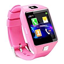 co dz09 1.54inch écran tactile montre-bracelet à puce carte sim support suivi de l'enfant-pink