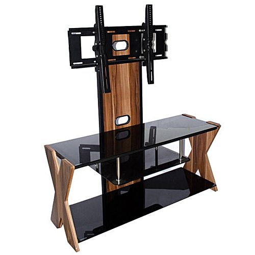 Meuble tv meuble de support t l vision ts 1233 24 75 for Support tv bois