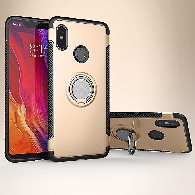 Generic Magnetic 360 Degree Rotation Ring Armor Protective Case For Xiaomi Mi 8(Gold) au Côte d'Ivoire à prix pas cher  |  Côte d'Ivoire