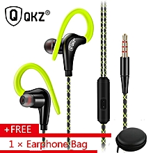 qkz dm500 driver ear hook sport stereo bass sport with microphone noise cancellation for iphone android smartphone pagemall