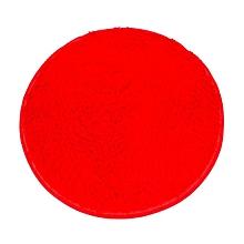 modish soft bath bedroom floor shower round mat rug non-slip red red