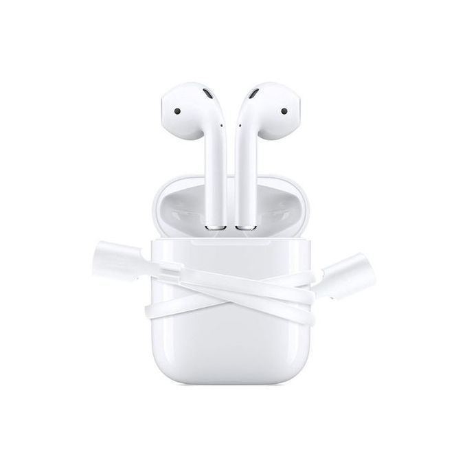 For IPhone 7 & 7 Plus AirPods Strap Sports Wire Anti Lost Rope-White