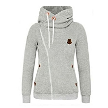 a336d38dfe7 Winter Women Hooded Jacket Long Sleeve Outwear With 2 Pockets  amp  Zipper  Closure