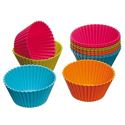 Neworldline Lot De Moule A Gateau En Silicone 12 Pieces