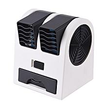ventilateur usb sans feuilles à deux ports - noir