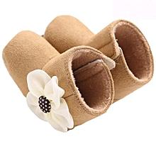 bébé flower snow bottes soft crib chaussures toddler bottes khaki 11- khaki