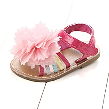 bébé flower sandals toddler princess first walkers girls kid chaussures- hot pink