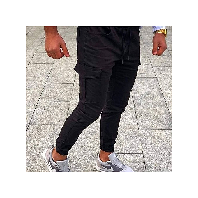 1fba3f4770ff1 CARGO BAY Pantalon Cargo - Homme/Femme - Noir - Prix pas cher | Jumia CI