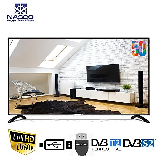 nasco tv led 50 pouces full hd hdmi vga r gulateur de tension et d codeur int gr. Black Bedroom Furniture Sets. Home Design Ideas
