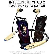 zealot h7 bluetooth headphones with magnetic attraction, slim wireless earphone neckband sport earbuds with mic for iphone android (gold) xjmall