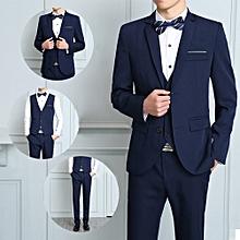 Ensemble Costume Slim - 3 Pièces Pour Homme - Bleu 7294425a7d6