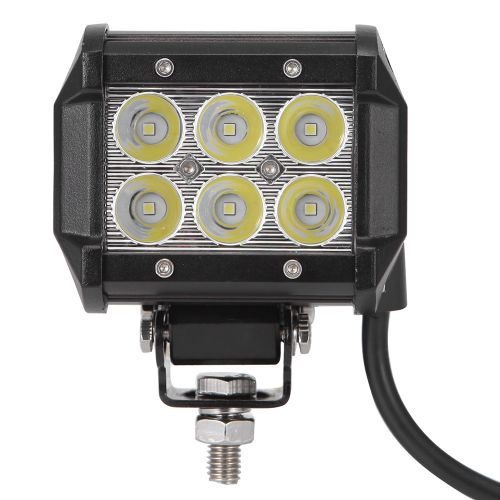 Phare LED Pour Voiture DC 9 - 30V 18W 1800lm 6500K - Noir