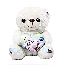 nounours - it is a girl - cœur - blanc