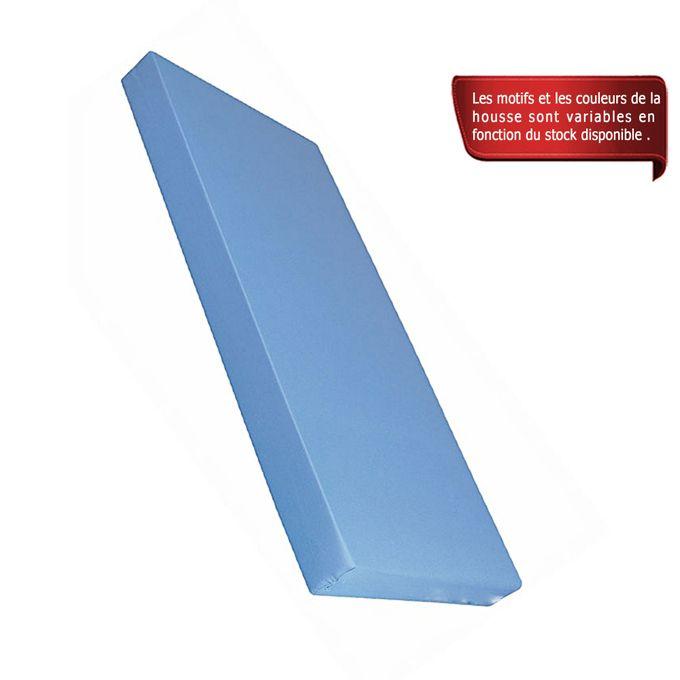confort matelas 1 place mousse ph 2 epaisseur 15 cm housse offerte bleu acheter en. Black Bedroom Furniture Sets. Home Design Ideas