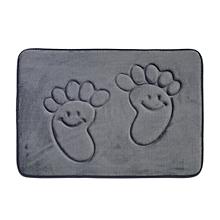 utile 40*60cm pieds doux tapis de bain en mousse à mémoire de plancher de chambre à coucher douche mat