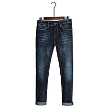 34bd1c4bf590b LIGAO Men  039 s Denim Pants Blue Slim Jeans Long Trousers Full Length  Casual