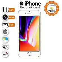 iphone 8 - 4.7 pouces - 4g lte - 64go rom- 2go ram- 12mpx - or + protège offert- reconditionné - garantie 12 mois