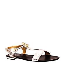 sandales plates - noir/gris