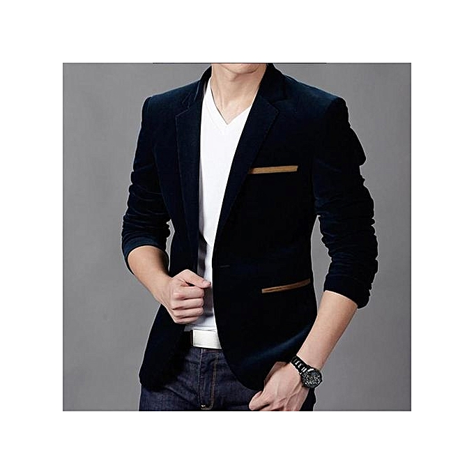 pretty nice b4d97 17af0 Navy Blue New Arrival Slim Fit Men Suit Costume Homme Vest Formal Business Mens  Blazer Suit