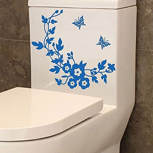 Generic Flower Toilet Seat Wall Sticker Bathroom Decoration Decals