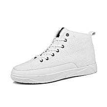 Fashion Men Canvas Shoes Lace-up High Style Flat With Students Casual Shoes fd79b99ca67