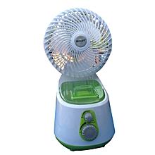 mini ventilateur 2 en 1 - mini climatisation - blanc/vert