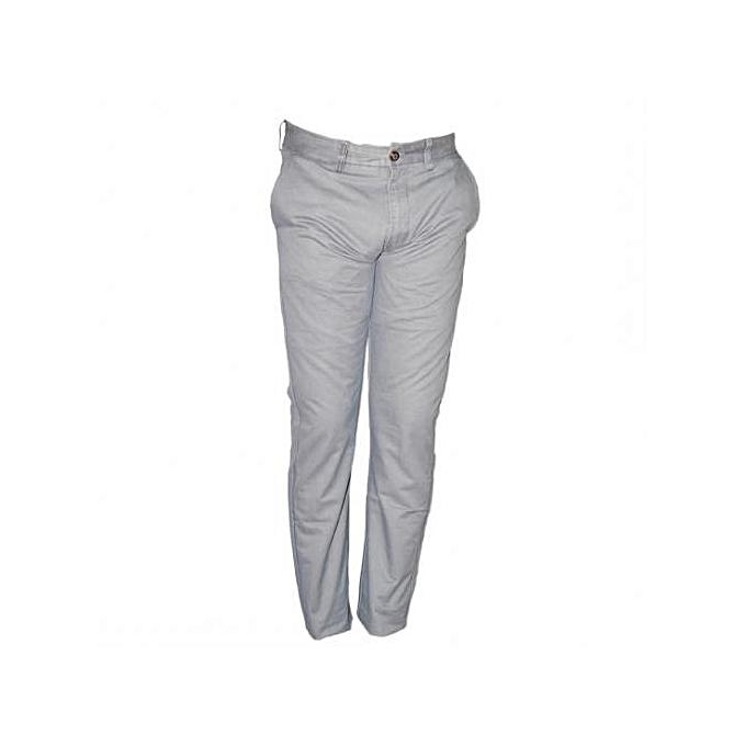 Sans marque Pantalon Chino Homme - Gris - Prix pas cher  d3f24cb14bec