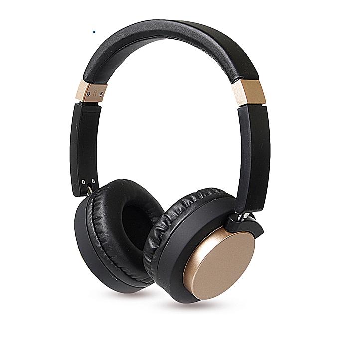 Accessoire electro Casque Sans Fil Stereo Bluetooth BT 1603 – Écouteur 4.2 HIFI Stéréo Son Musical – Noir/Or au Côte d'Ivoire à prix pas cher  | Promotion  Anniversaire