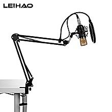 leihao bm - 700 professional condenser microphone studio broadcasting recording-black