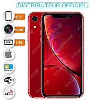 "iphone xr- 6.1""- 256 go- ios 12- 12 mpx- 4g- red (rouge ) - garantie 12 mois"