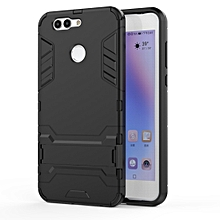 shockproof pc + tpu case for huawei nova 2 plus, with holder(black)