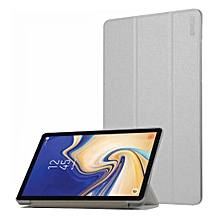 enkay silk texture horizontal flip pu leather case for galaxy tab s4 10.5 / t835, with three-folding holder & sleep / wake-up function (white)