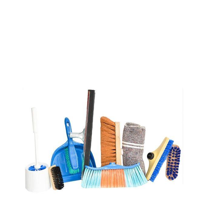 Kit Complet Ménage 44 + Les 4 Manches Offerts - 9 Articles De Nettoyage En 1   - Bleu