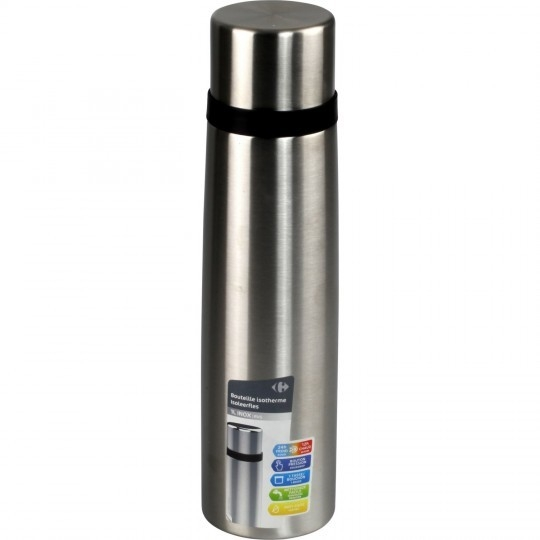 Bouteille isotherme 1l inox CARREFOUR HOME