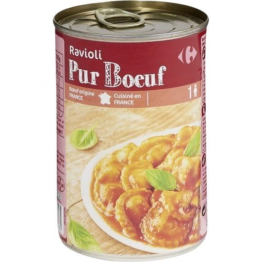 Plat cuisiné ravioli pur bœuf CARREFOUR