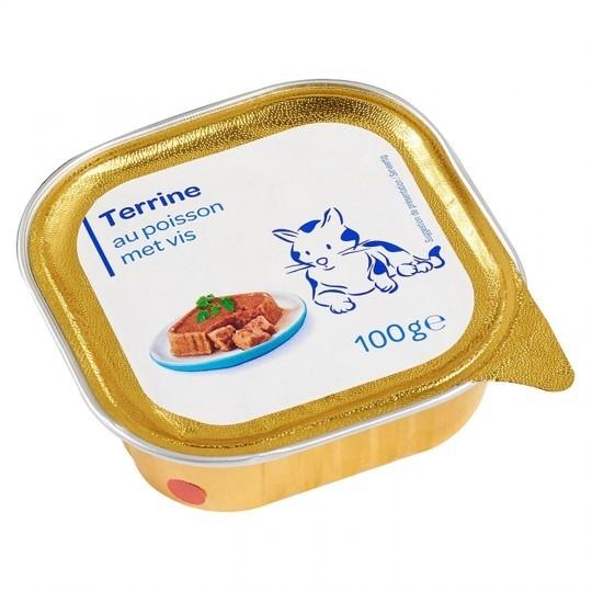 Terrine pour chat au poisson