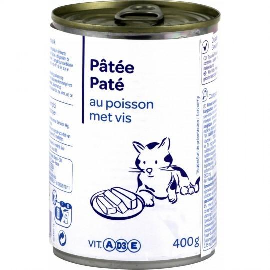 Pâtée pour chat poisson