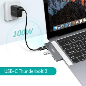 Thunderbolt 3: PD100 W, 40 Gbps, 5K @ 60Hz