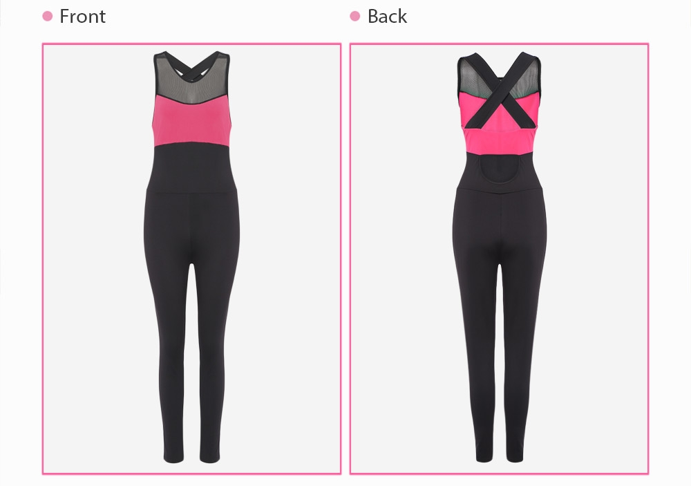 Girls Playsuit Fitness Tights Jumpsuits Yoga Sport Suit Gym Sleeveless Tracksuit for Women One Piece Bodysuit