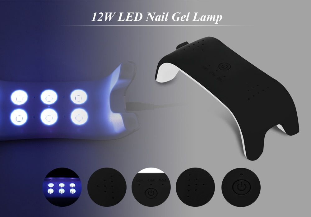 12W Manicure Tool UV Automatic Induction Nail Gel Lamp