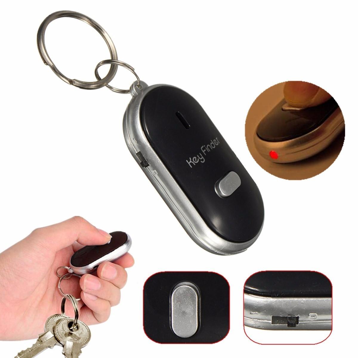 Mini-portables LED localisateur Key Finder trouver les clés perdues chaîne porte-clés au contrôle du son sifflet