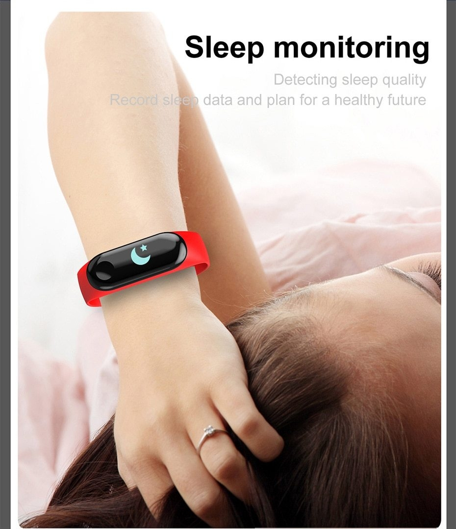 Newest Smart bracelet M3 Sports Blood Pressure Oxygen Heart Rate Monitor Watch Message Caller Smart Band PK For Xiomi mi band 3 (10)