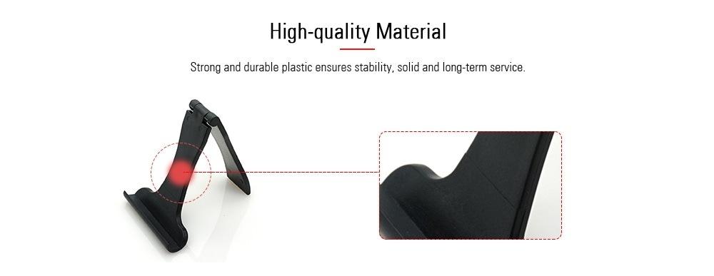 Universal Black Folding Plastic Cell Phone Stand Holder- Black